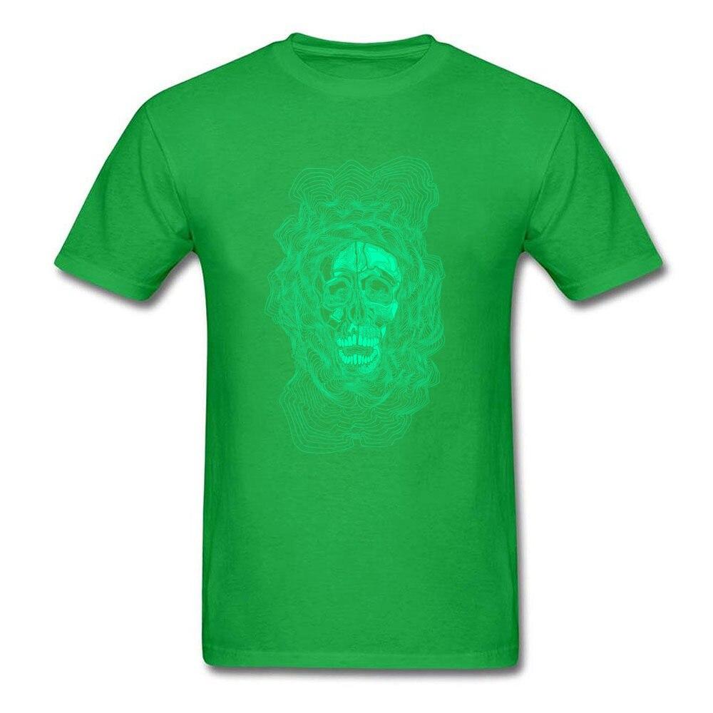 oldskull 100% Cotton T Shirt for Men Hip hop Top T-shirts Comics Dominant O Neck Sweatshirts Short Sleeve Free Shipping oldskull green
