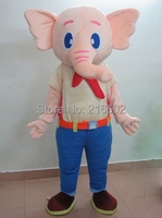 2015 Year Hot Selling Elephant Adult Mascot Costume Fancy Dress For Advertising