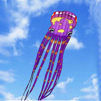 free shipping high quality large soft kites 30m world map octopus kite reel ripstop nylon parachute flying toys hot air balloon