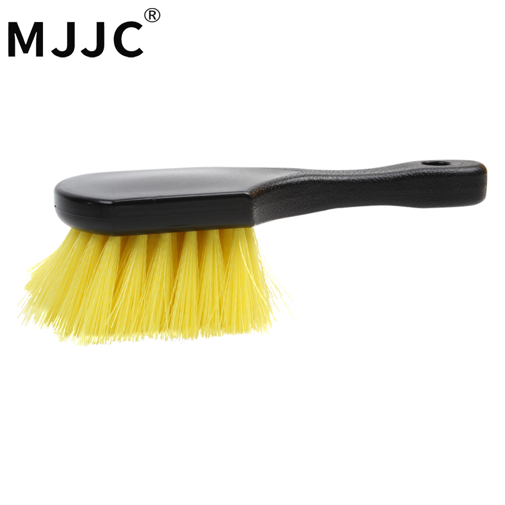 MJJC Hard Hair Scratch-Free Short Handle Wheel/Tire Brush Special Design mjjc wheel and tire coating sponge brush car motorcycle vehicle wheel tire brush waxing sponge removable cleaning hand tools