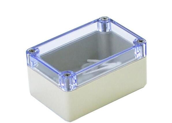 1pcs 100*68*50mm Screw Mounted Clear Cover Waterproof Sealed Junction Box 100x68x50mm