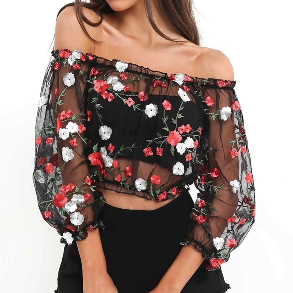Womens Casual Ruffle Floral Print T-Shirt Off Shoulder Summer Short Sleeve Tops