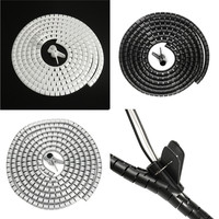 25mm 5M Spiral Wrap Cable Tidy Kit Wire Organizing Wrap With Clip Tool Spiral Office Home