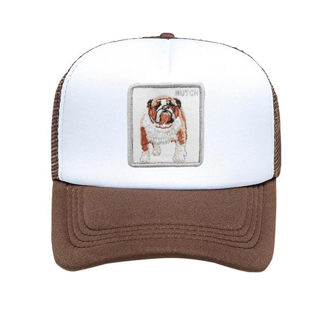 Fashion Embroidered Dog Printed Cap