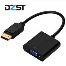 DZLST DisplayPort Male to VGA Female Cable Converter Adapter DP to VGA Adapter Cable For Projector