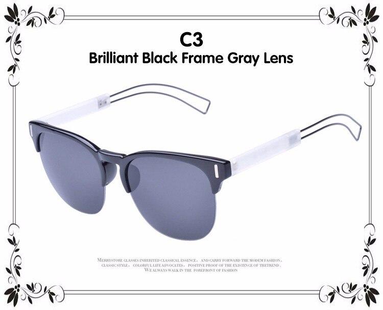 3fc4df111 ①ديدي زوجين ماركة فاخرة المتضخم عدسات مسطحة النظارات خمر نصف رقيقة ...