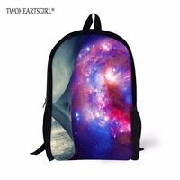 TWOHEARTSGIRL Colorful Galaxy Stars Children Schoolbag Teenager Popular School Bag Pupil Soft-Handle Large Capacity Student Bag