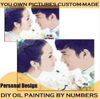 40 50cm Frameless Oil Painting Wall Decor Diy Painting By Numbers Hand Painted Canvas Painting Romantic