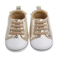 Купить с кэшбэком Newborn Baby Crib Shoes Girls Sneakers Infant Lace-up Tenis Soft Sole loafers Toddler Boys Slippers for Little Kids Shower Gifts