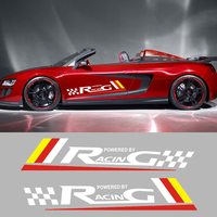 2 PCS Sport Racing Vinyl Car Styling Car Door Waist Line Sticker Vehicle Accessories Decals For Mercedes Benz Aston Martin