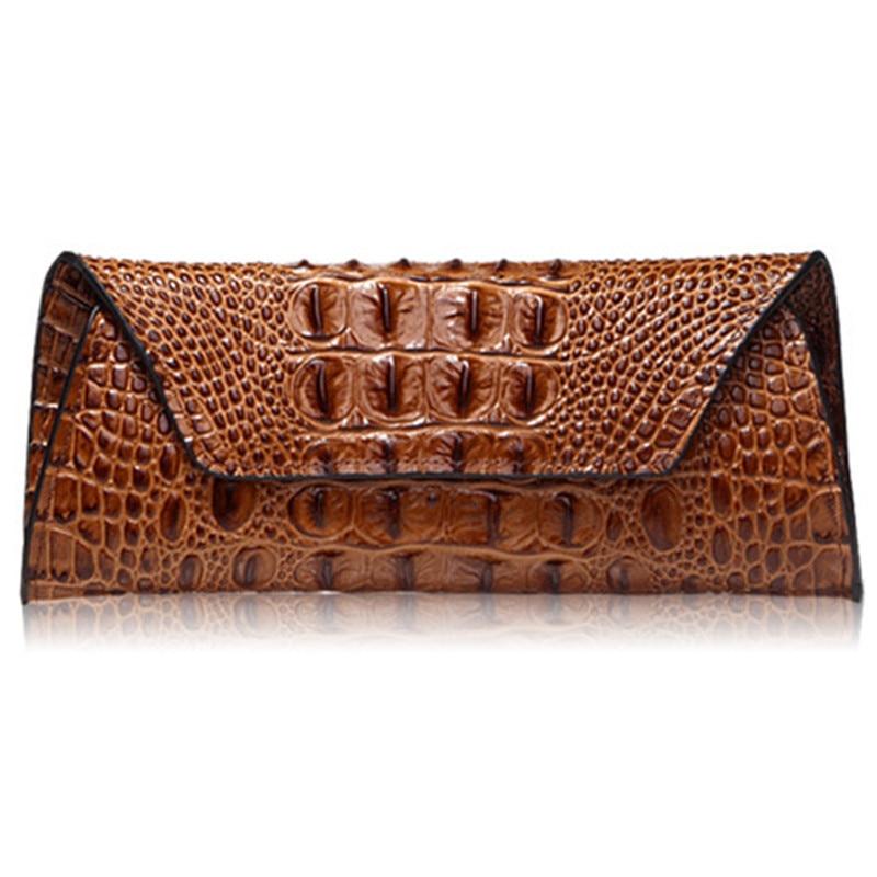 купить crocodile Women Wallets Long Clutch Coin Real Leather Wallet Female Fashion Brand Card Holder Ladies Wallet недорого