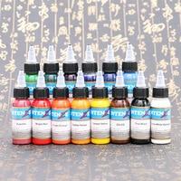 10pcs 30ml Professional Tattoo Ink 14 Colors Set 1oz 30ml/Bottle Tattoo Pigment Kit Fashion Makeup cosmetics Tools