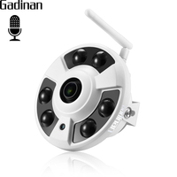 GADINAN 4MP OV4689 1 19mm Panoramic Lens 25FPS Real Time WiFi IP Camera With Audio Pickup