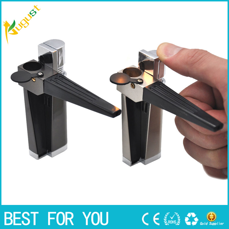 10pcs lot 2018 Multifunction Style Smoking Pipe With Cigarette Lighters Creative Metal Tube Lighter No Gas