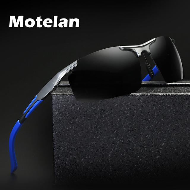 2017 new mens polarizadas sin montura gafas de sol de conducción al aire libre deportes de aluminio polarizado gafas gafas oculos gafas de sol 8 colores