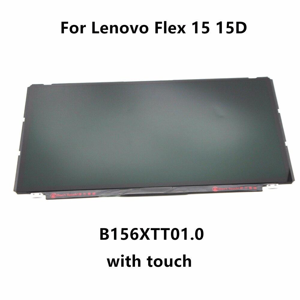 15,6 ''ноутбук светодиодный ЖК экран матрица с сенсорным дигитайзером стеклянная панель в сборе B156XTT01.0 для Lenovo Flex 15 15D 20309