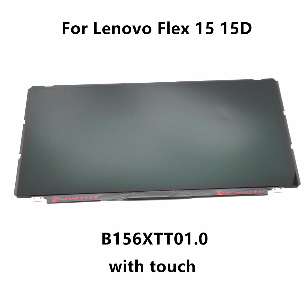 15.6'' Laptop LED LCD Screen Display Matrix with Touch Digitizer Glass Panel Assembly B156XTT01.0 For Lenovo Flex 15 15D 20309 laptop lcd slim 4k led screen display panel matrix ltn156fl02 l01 lp156qd1 spb1 ltn156fl01 d01 uhd 3840x2610 for lenovo y50 70