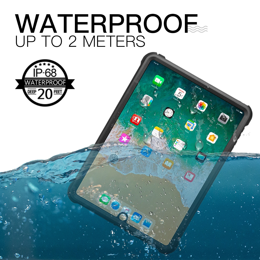 Waterproof Case For iPad 9.7 2018,for iPad Pro 9.7 Smart Cover Shockproof Dustproof Case Silicone Dropproof Case Cover For iPad pannovo silicone shockproof fallproof dustproof case cover for samsung galaxy note 3 n9000 black