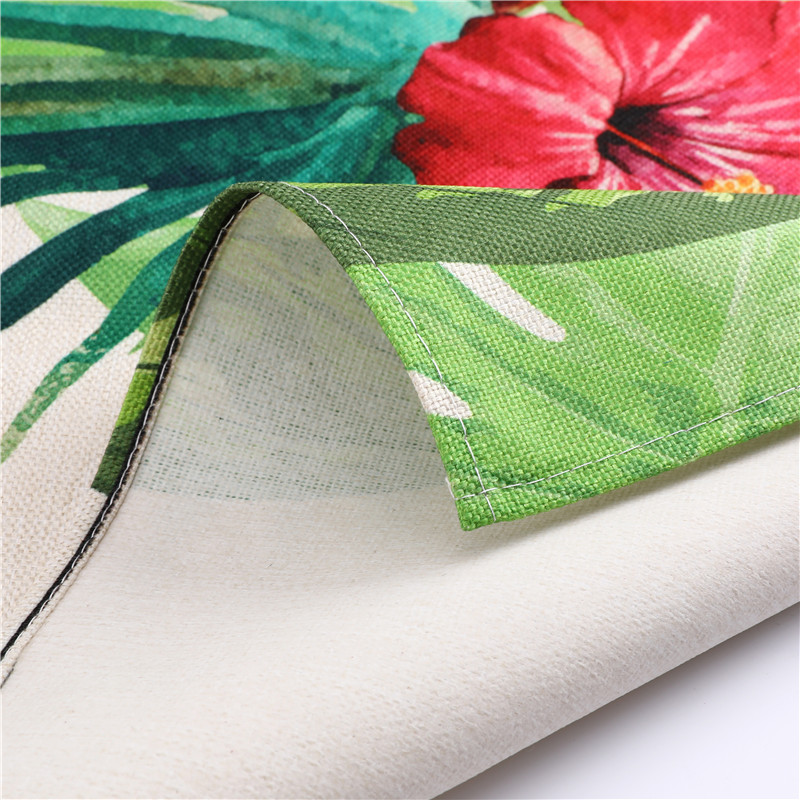 Image 5 - 1Pcs Flamingo Leaf Pattern Cotton Linen Aprons Home Cooking Baking Coffee Shop Cleaning Aprons Kitchen Accessories 53*65cm A1010-in Aprons from Home & Garden