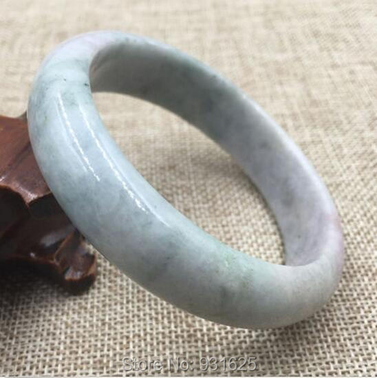 Beautiful Top Grade A Natural Lavender Green Jadeite Woman'sJade  Bangle Bracelet 58-62mm +certificate Fashion Fine Jade Jewelry