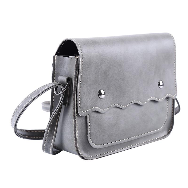 Solid Color Wave Pattern Ladies Leather Small Square Bag Shoulder Bag Handbag  Messenger Bag High Quality
