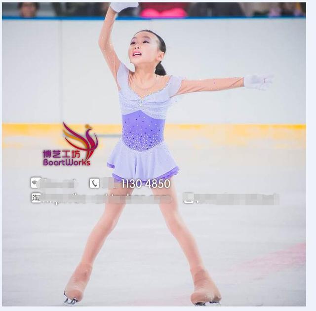 19ed8f5d3e Vestido de patinação no gelo figura patinação vestido crianças  personalizado vestidos de competição de patinação criança