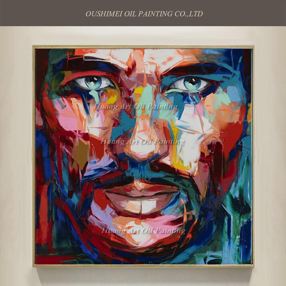 Extreem nieuwe pop kunst hand geschilderd beroemde mensen portret  &JP62