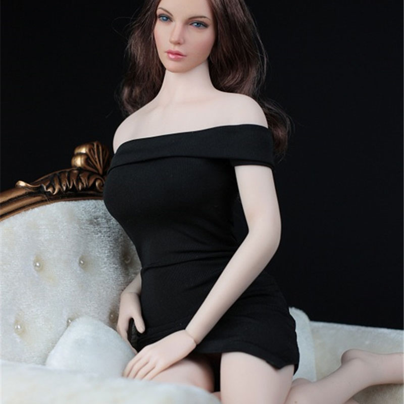 1/6 Scale Female One Shoulder Sexy Short Dress Women Sexy Short Skirt Clothes Clothing Set For 12 Action Figure Female Body1/6 Scale Female One Shoulder Sexy Short Dress Women Sexy Short Skirt Clothes Clothing Set For 12 Action Figure Female Body