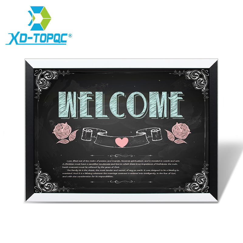 XINDI Magnetic Blackboard MDF Black & White Wooden Frame Home Decorative Drawing ChalkBoard 30*40cm Message Board For Notes
