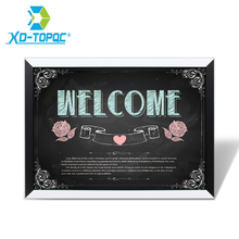 XINDI New Magnetic Home Decorative Blackboard MDF Black & White Wooden Frame Drawing ChalkBoard 30*40cm Message Board For Notes free shipping 2017 wood magnetic blackboard dry wipe chalkboard office supplier 20 30cm factory direct sell home decorative