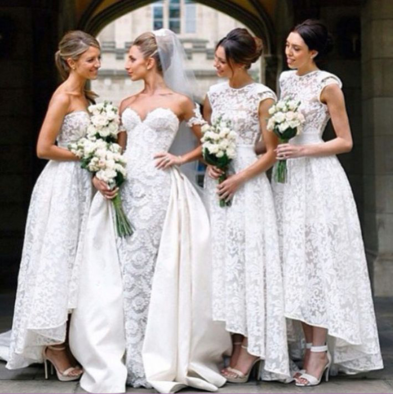 Church wedding two styles high low bridesmaid dress with for Dresses for church wedding