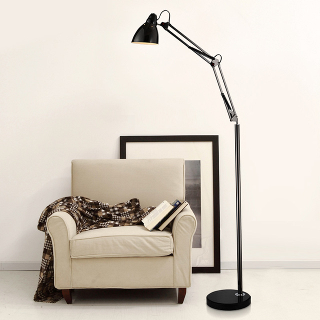 Modern Foldable Metal Floor Lamp Light With E27 Bulbs Stand ...