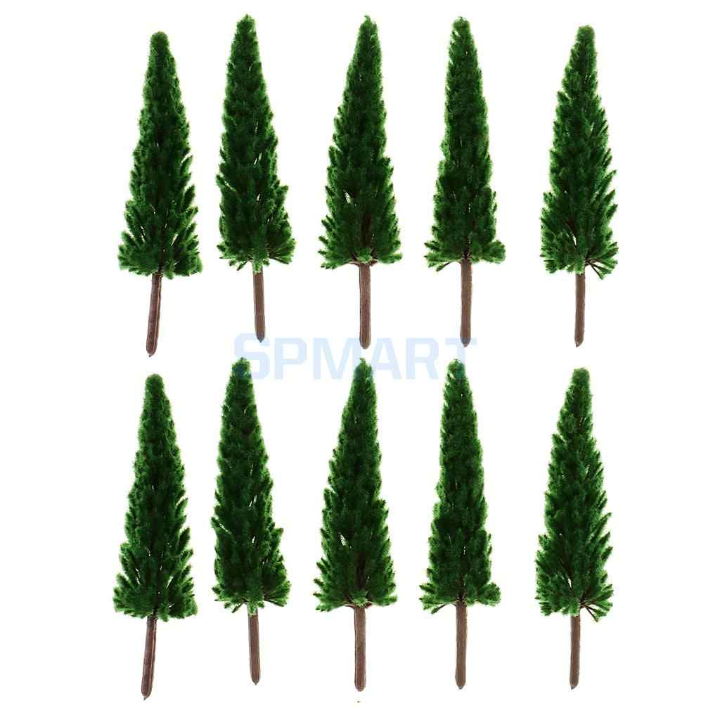 Dark Green Model Trees for Train Railway Railroad Landscape DIY Layout  Different Scales Trees