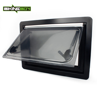 BIKINGBOY RV Caravan Camper Van Hinged Push Out Window 19.7inx13.8in 500x350 mm Ventilation Hatch Karavan Mobile Motor home Boat