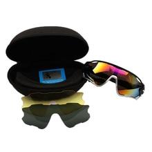 3 Lens Polarized Cycling Eyewear Set Bike Sports Glasses Mens Cycling Glasses Bicycle Sunglasses With Box Riding Fishing Goggles недорого