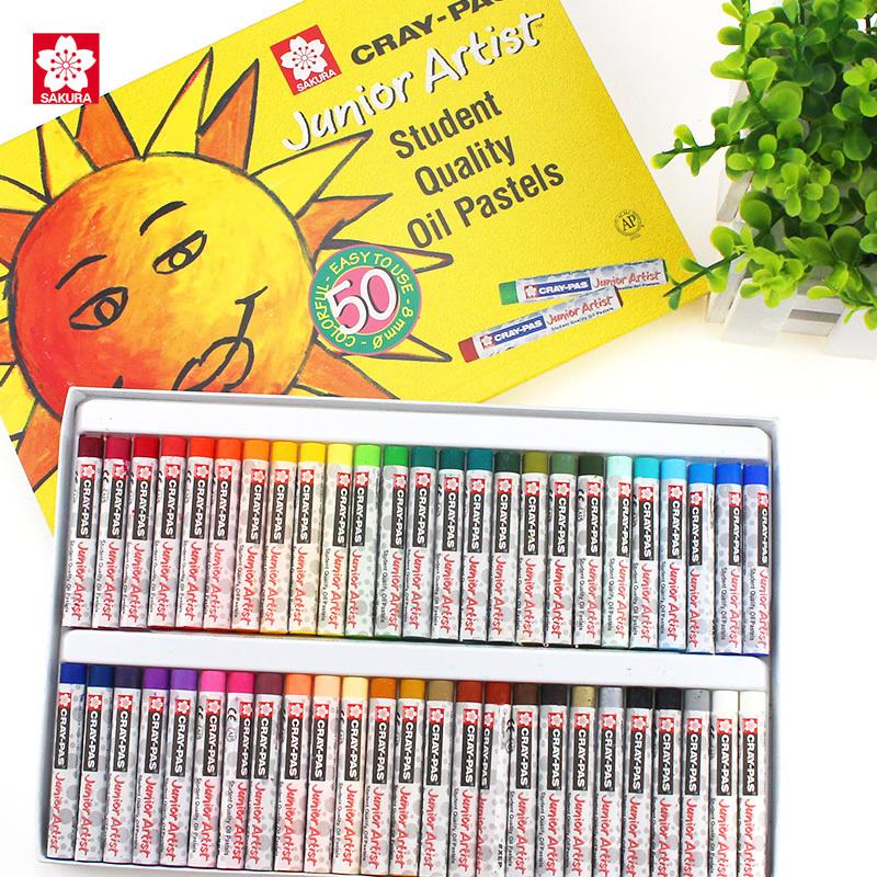 Sakura Oil Pastels XEP-12/16/25/36/50 Non-toxic Safe Wax Crayon Drawing for Kids Students japan sakura sakura 50 36 25 color oil pastels crayon student sakura sakura 36 colors oil pastels watercolor can be washed