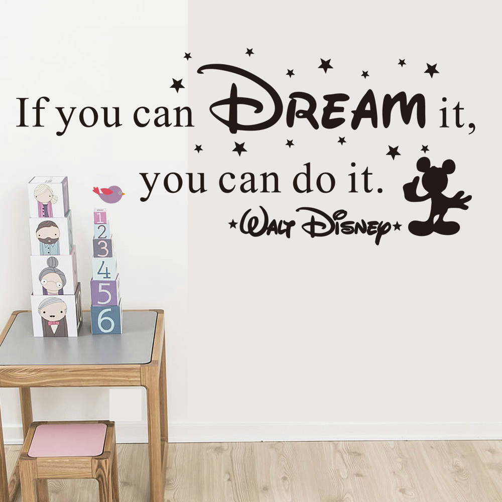 If you can dream it you can do it inspiring quotes wall stickers if you can dream it you can do it inspiring quotes wall stickers home art decor decal mural wall stickers for kids rooms in wall stickers from home garden amipublicfo Choice Image