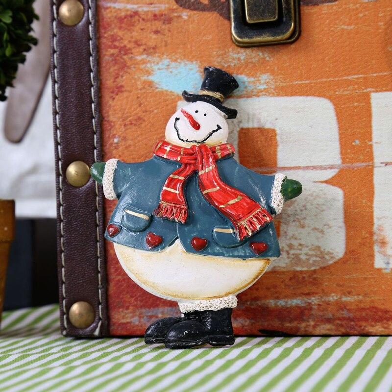 4PCS/SET Resin Snowman Fridge Magnets Cute Creative Home Christmas decoration Crafts