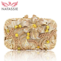 NATASSIE Women Evening Bags Ladies Crystal Clutch Bag Female Party Purses