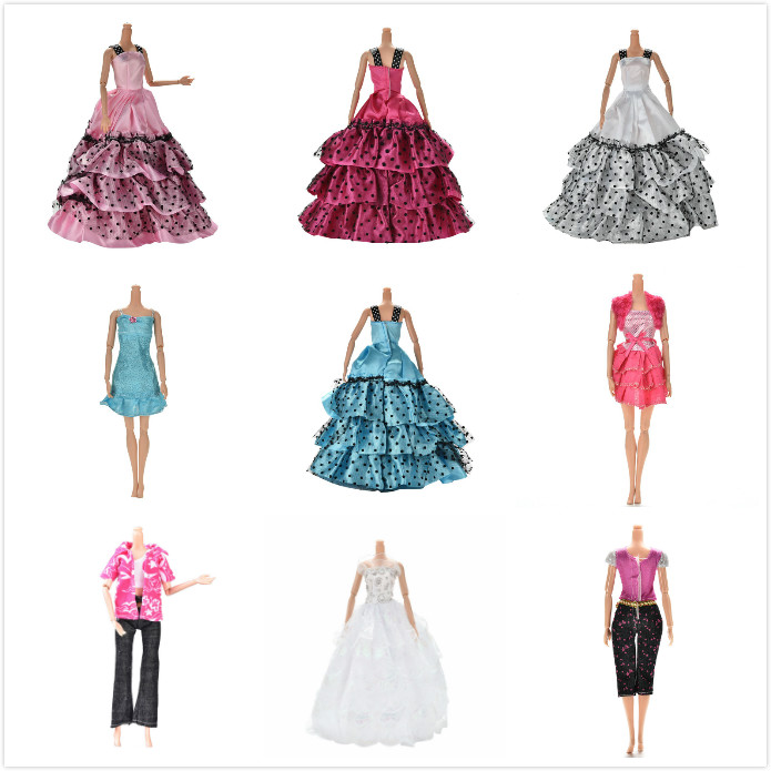 Original Doll Clothes Wedding Dress Leisure Skirt Party Gown For Barbie Original Doll Girl Best Gift Doll Coat Pants Shoes