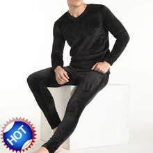 Men's Thickening and wool heat go well with underwear  double aspect velvet  underpants lengthy Johns Men trousers of winter  legging tight