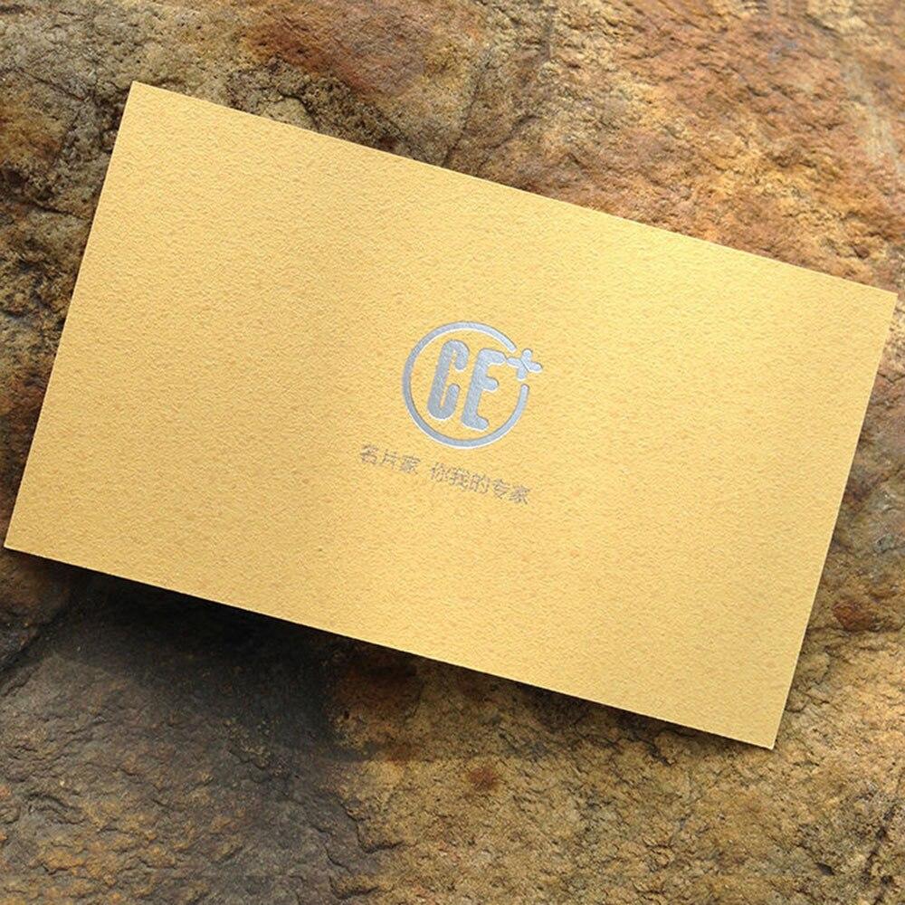 custom High grade business card gold foil vist card Dazzle grind ...
