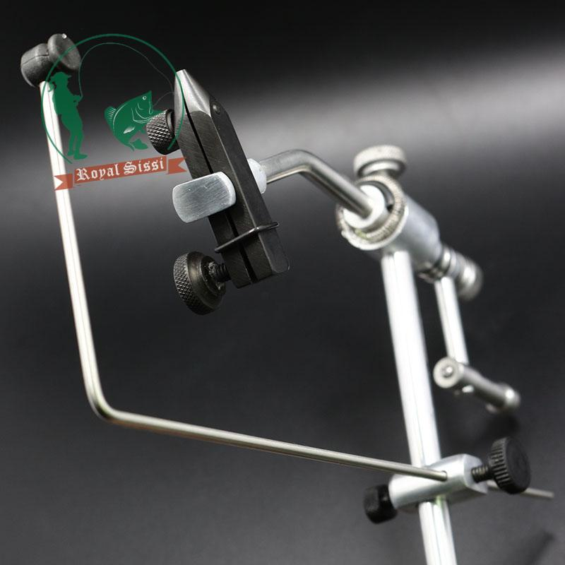 Royal Sissi silver grade rotary fly Tying Vise with C-Clamp strengthened Hard Jaws 360 degree rotation precision fly tying tools