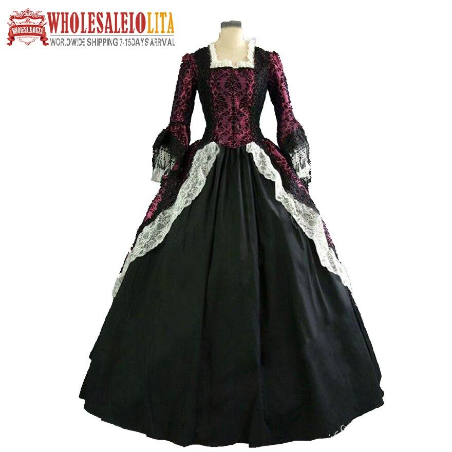 Vintage Costumes 1860 s guerre civile sud Belle robe de bal/gothique robe Lolita robes victoriennes