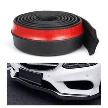 Separador de labios de parachoques delantero para coche, 2,5 m, Kit de carrocería, Alerón, cenefa, tira de goma de coche, 60mm de ancho