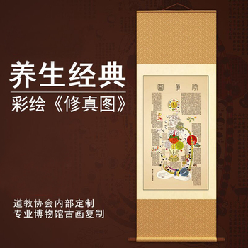 Color comprehension map inside TCM health propaganda poster human body acupoints acupuncture chart
