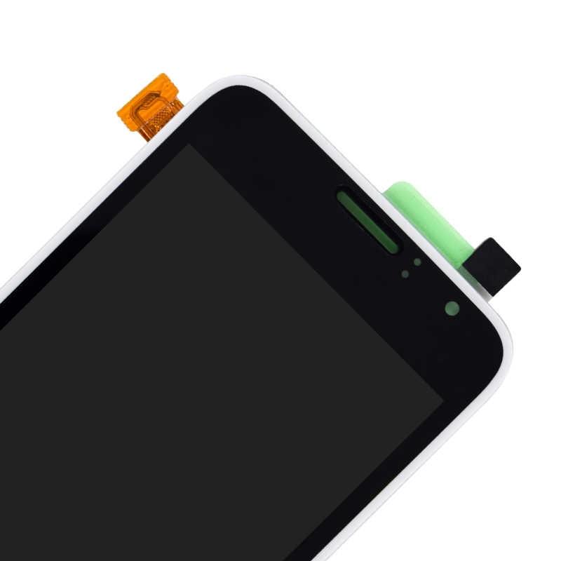 لسامسونج غالاكسي J1 J120F J120DS J120G J120M J120H J120 شاشة الكريستال السائل مع مجموعة المحولات الرقمية لشاشة تعمل بلمس قطعة بديلة لمستشعر