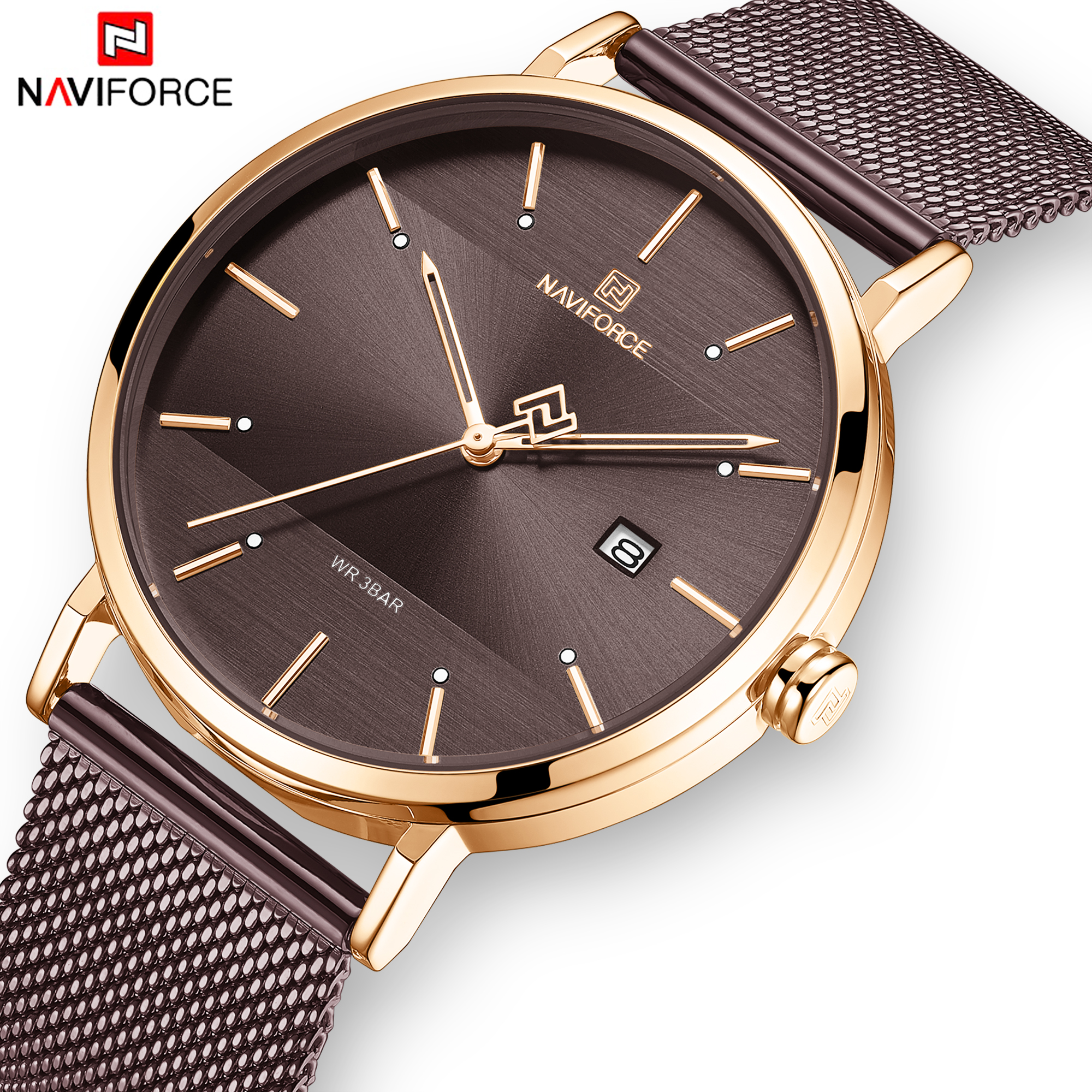 NAVIFORCE Lover's Watches For Men And Women Fashion Simple Quartz Wristwatch Waterproof Date Clock Luxury Couple Watch Gift 2019