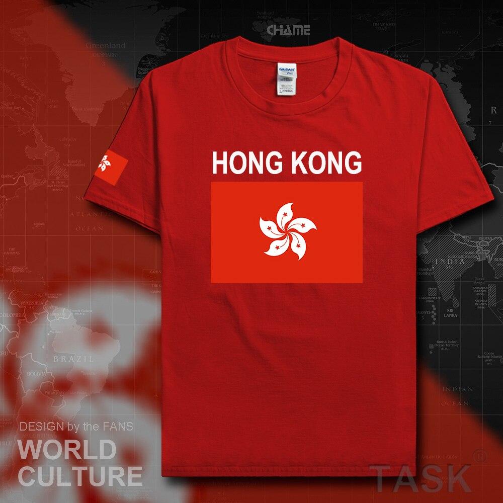 T shirt design hong kong - Hong Kong Mens T Shirts 2017 Jerseys Nations Tshirt Cotton T Shirt Hongkong Fitness China