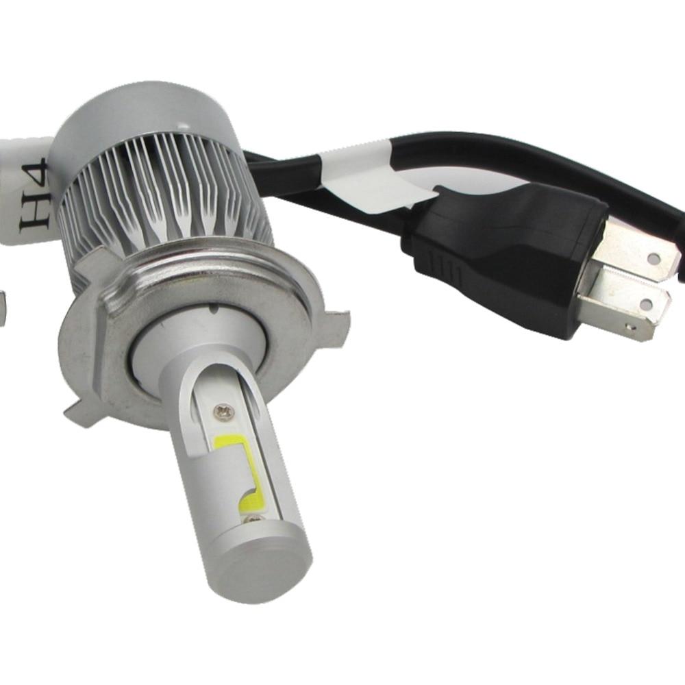 Led Verlichting Auto Koplamp.Us 48 06 11 Off 2x Lichten 55 W 4600lm H4 Chipy Led Verlichting Auto Led Lights Beam Cob Lamp Koplamp Bulb Koplampen Zonder Ballast 6000 K In Auto